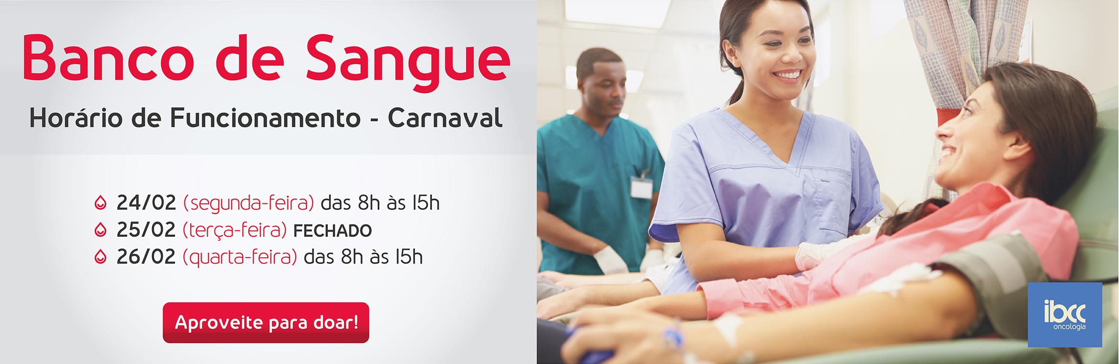Doação de Sangue Carnaval