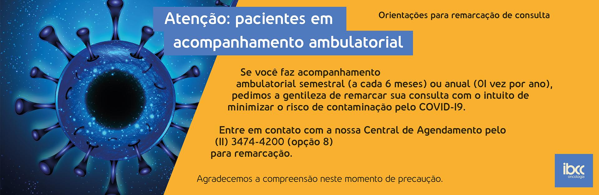 Coronavirus atenção pacientes