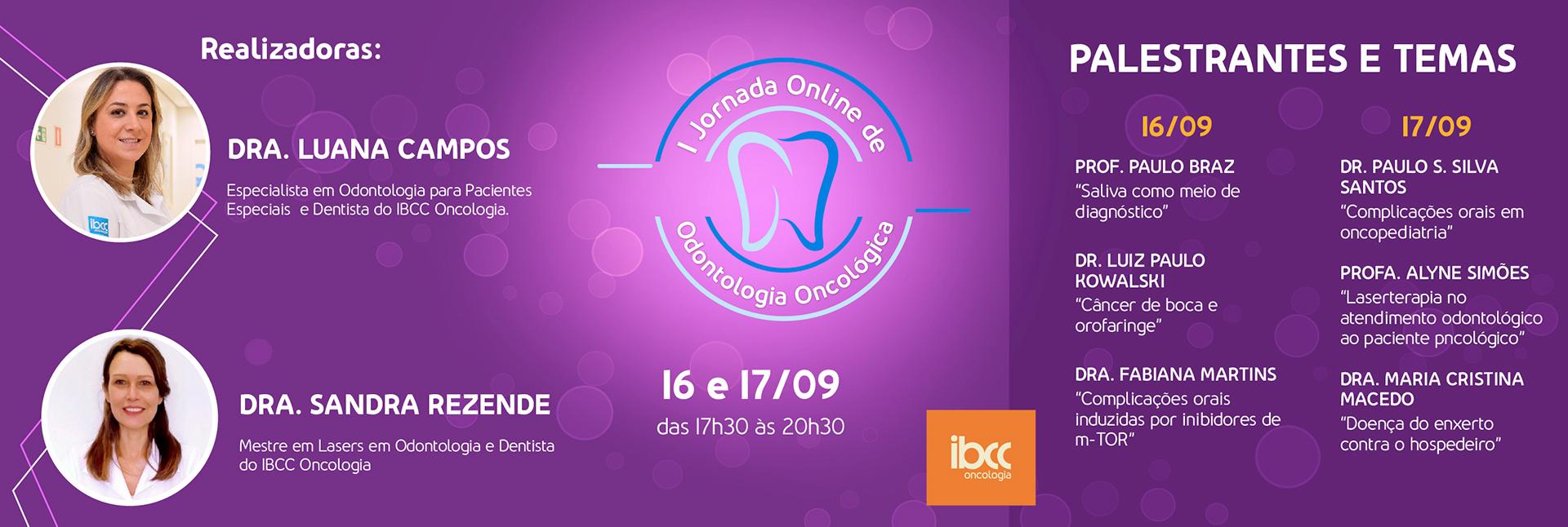 I Jornada Online de Odontologia Oncológica